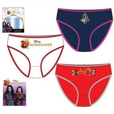 Girls Official Licensed Disney Descendants Knickers Briefs Underwear 3 Pack