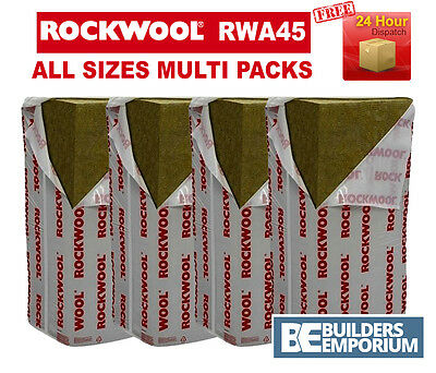 ROCKWOOL RWA45 (Prorox SL 920) Acoustic Sound Insulation 50mm, 75mm and 100mm