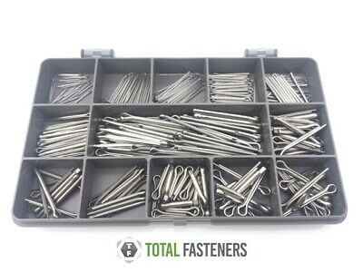 Assorted Metric A2 Stainless Steel Split Pins / Cotter Pins 250 Pcs
