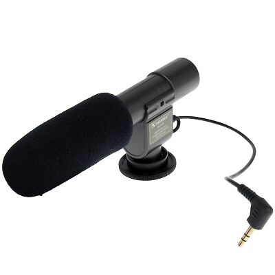 HI-TECH Mini Professional Stereo Microphone for DV Camcorder