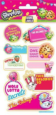 Shopkins Naming Label Stickers - Reusable - Personalise Your School Stuff