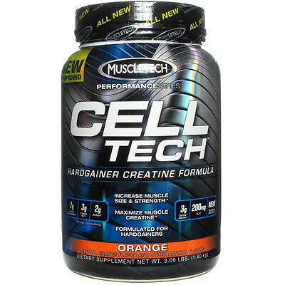 MuscleTech - Cell Tech Hardgainer Creatine Formula - 3lbs- Helps to put on size