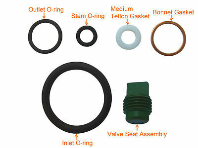 Scuba Valve Service Kit Spare Parts Rebuild Kit for Yoke Type # KIT-K2