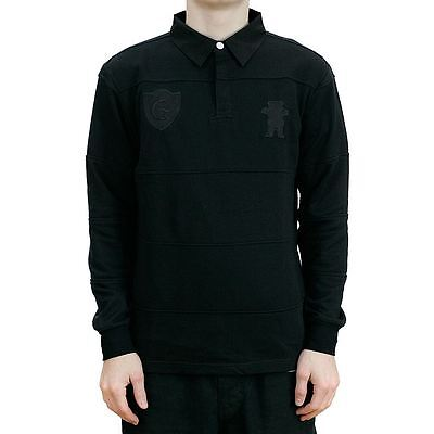 Grizzly Griptape Dropout Rugby Shirt Black All Sizes New Free Delivery