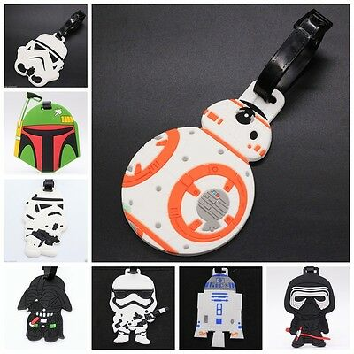 New Star Wars White Stormtrooper BB-8 Rubber Silicone Travel Luggage Tags