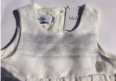 Baby Dior Mädchenkleid Leinen, Baby Dior girls dress linnen NEW SALE NP469EUR
