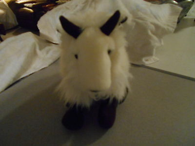"Vintage Applause Plush Mountain Goat 11 X 9"" Tall Stuffed Toy Animal"