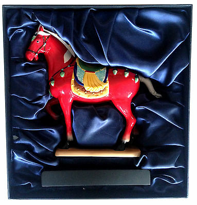 CHINESE Tang Dynasty Reproduction Sancai Hand Painted War Horse Red w/ BOX