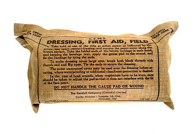 MILITARY Medic Gauze Dressing Medical First Aid Canvas Pack UNOPENED UNUSED 1966