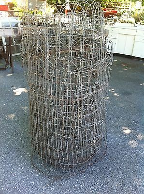 Vintage  Woven Wire round top garden fence gate trellis 20 ft roll
