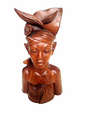 BALINESE Carved Wood Traditional Man Indonesia Thailand LARGE