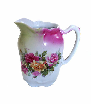VICTORIAN Rose Pattern China Porcelain Milk Pink Creamer