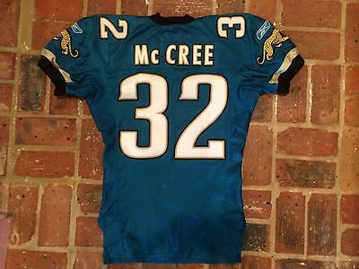 2003 Marlon McCree Jacksonville Jaguars Game Worn Jersey - Kentucky