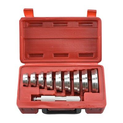 "10 Pc BEARING RACE & SEAL DRIVER Master Tool Set 1.565"" to 3.180"" Wheel Axle Set"
