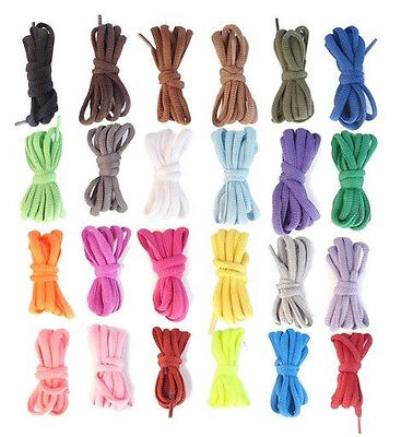 (2 Pairs) Athletic Round Shoe Laces Shoelaces Sport Sneakers Boots Strings 3/16""