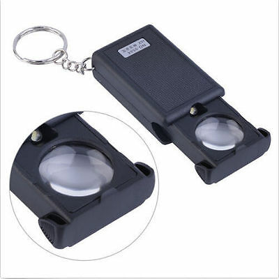 45X Magnifying LED Magnifier Light with Loupe Glass Mini Illuminated Jewelers