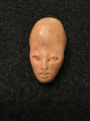 Old Handmade Star Being, Space Alien, Ancient Alien, Clay Pendant Bead