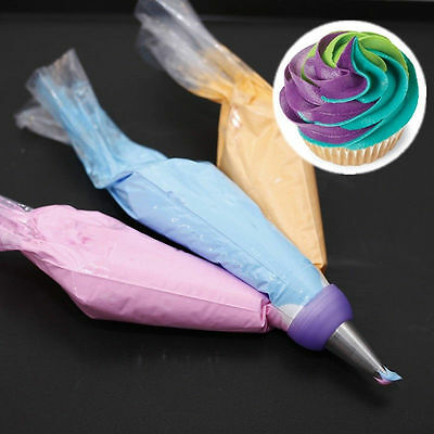 3 Color Cake Decorating DIY Tools Icing Piping Cream Pastry Bag Nozzle Converter