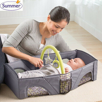 Summer fold n go Portable Light weight Baby Infant Travel Bassinet Cot Bed