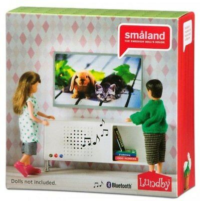Smaland Music Stereo and TV Set by Lundby - Bluetooth ready - CLEARANCE