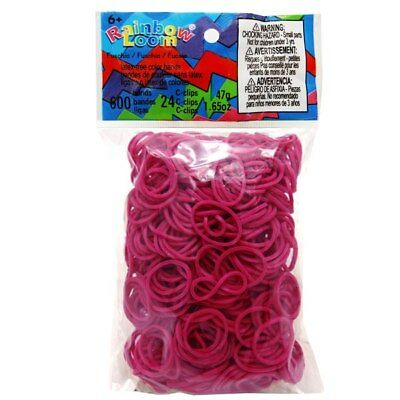 NEW Fuschia - Rainbow Loom Rubber Bands from Purple Turtle Toys