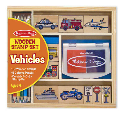 NEW Vehicles Wooden Stamp Set by Melissa & Doug from Purple Turtle Toys
