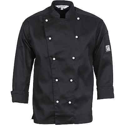 Chef Jacket Black Long Sleeve DNC Comfort Traditional All Sizes XXS to 4XL Cook