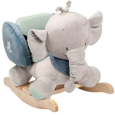Plush/Timber Rocking Elephant Rocker/Chair/Ride-on Toy w/ for Toddler Child Kids