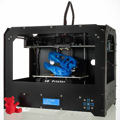 Black 3D Printer for Makerbot Replicator 2 Dual Extruders + 1 Free filament