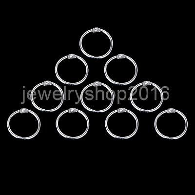 10x Round Shining Hinged Rings for Scrapbooks Albums - 58mm