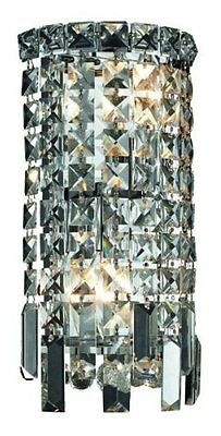 "Elegant Lighting Maxim 13"" High 2-Light Wall Sconce- Chrome Finish with Crystal"