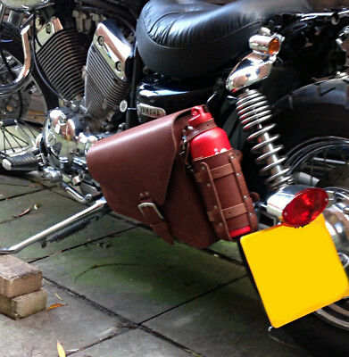 Harley Davidson Sportster Xl New Model Brown Leather Left Saddlebag Pannier +1L