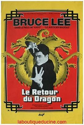 LE RETOUR DU DRAGON Affiche Cinéma / Movie Poster 53x40 BRUCE LEE