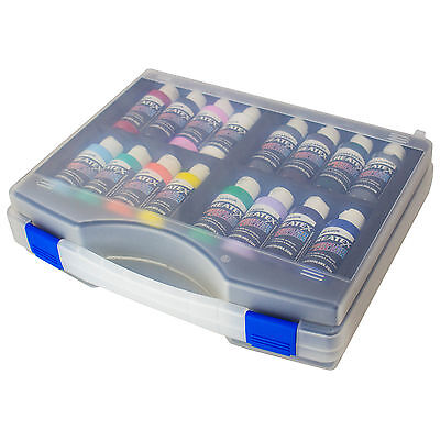 Createx Airbrush Farben Koffer Set 16x 60ml Basis Airbrushfarben Acrylfarben