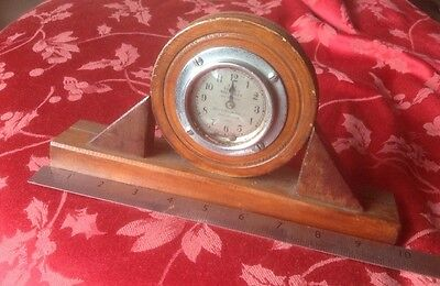 Vintage Service Recorder Mounted In Wood Frame Spares Repair Gas Timer?