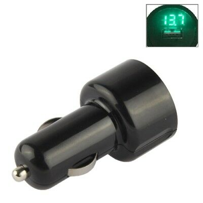 ELETTRONICA Green 5V 2.1A LED USB Car Charger with Electric Meter for Galaxy S6