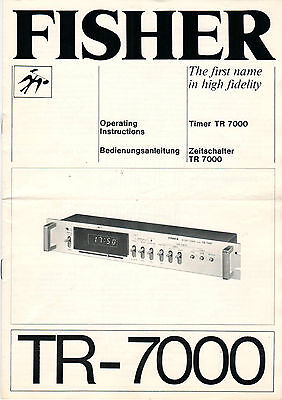 FISHER Service Manual Anleitung  TR-7000  B1498