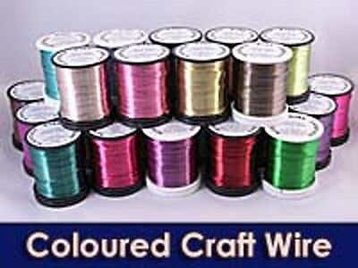 High quality coloured copper wire 0.5mm 15mt & 0.90mm 5mt
