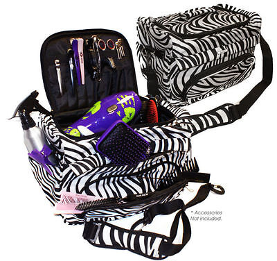 Hair Tools Haito Professional Hairdressers/Beauty Zebra Kit Bag/Tool Case