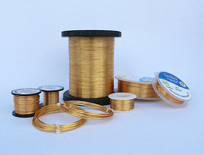 0.5mm 24 GAUGE 3 X 15mts HIGH QUALITY GOLD COLOURED COPPER WIRE NON TARNISH