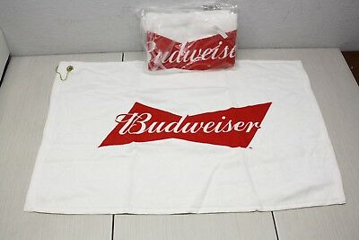 2x Budweiser Golf Bag Towel 24x16 AB Brand New Authentic Sealed