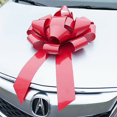 Red Car Bow, Large Magnetic Vinyl Bows