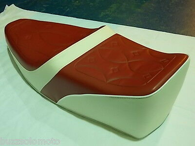 Vespa PX LML 2T PE Sprint T5 Classic King Queen Seat Ox Red White Embossed Top