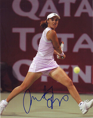 Martina Hingis Tennis autograph, In-Person Signed 8X10 Inches Photo
