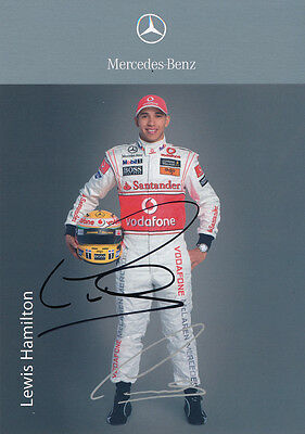 Lewis Hamilton - F1 autograph - Signed Official 4X6 inches F1 2009 Photo Card