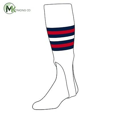 "TCK® Medium, 200I, 7"" - White–Navy Blue–Scarlet Red - MLB® Baseball Stirrups"