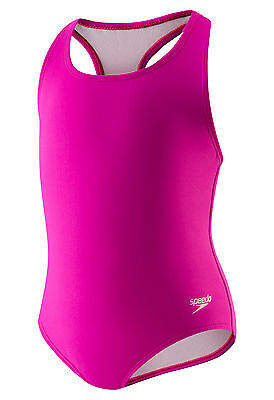 Speedo Toddler Swimsuit Bathing Suit Pressure Buttons at the Bottom Fuschia