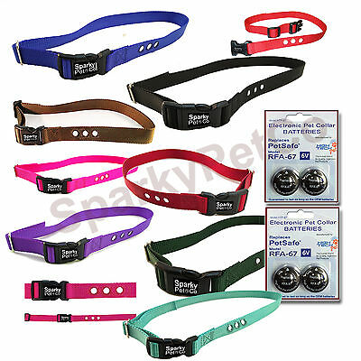 """1"""" Dog Fence 3 Hole Replacement Collar Strap  RFA 48 4 High Tech Battery RFA 67"""