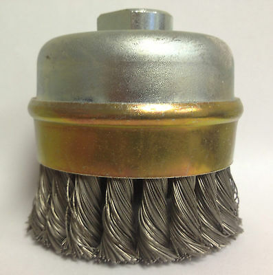 Wire Cup Brush, Knotted