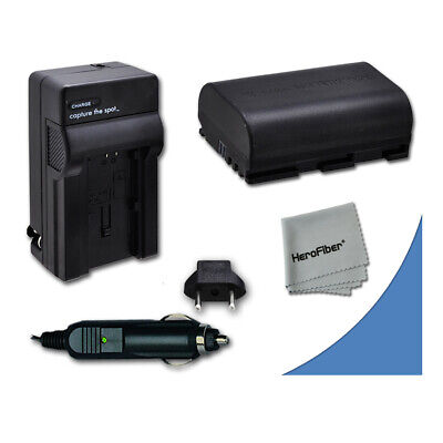 LP-E6 LPE6 Battery + Quick AC/DC Charger for Canon 60D DSLR Camera